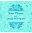 Christmas and New Year ornate cards on winter vector image vector image