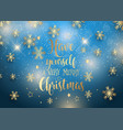 christmas background with decorative type vector image vector image