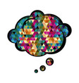 colorful cloud speech with abstract background vector image