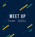 cool colorful background meet up collection card vector image vector image