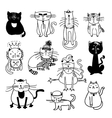 Cute cats sketch vector image
