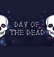 day of the dead paper cut skull for mexican vector image vector image