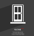 Door icon symbol Flat modern web design with long vector image vector image