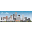 Edmonton Skyline with Gray Buildings vector image vector image