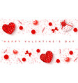 festive card for happy valentines day background vector image vector image