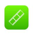film strip icon digital green vector image