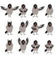 Flat icons of Crows set vector image