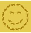 footprint face vector image vector image