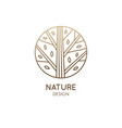 forest logo template in linear style abstract vector image vector image
