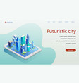 futuristic city isometric vector image