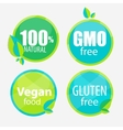 Gmo Free 100 Natutal Vegan Food and Gluten Free vector image vector image