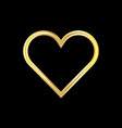 gold heart logo vector image