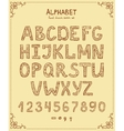 Hand Drawn Retro Font vector image