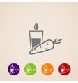 icons set with a carrot and glass of juice Healthy vector image vector image