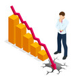 isometric concept world financial crisis oil vector image