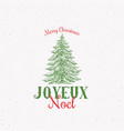 joyeux noel abstract retro label sign or vector image