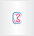 k letter logo logotype symbol element line vector image vector image