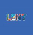 lent concept word art vector image vector image