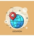 Location Icon logo line flat design vector image