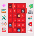 locker with luxury quiz gifts on pink background vector image vector image