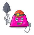 miner trapezoid mascot cartoon style vector image
