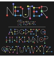 Neuter modern flat font made with dots good for vector image vector image