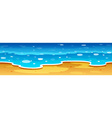 Ocean view with beach vector image vector image