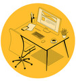 office and coworking workplace vector image vector image