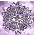 Ornamental mandala print on violet watercolor vector image vector image
