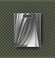 plastic hang pouch transparent pocket wrap vector image vector image
