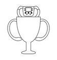 racing chmapionship trophy cup black and white vector image vector image