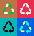 Recycle symbol icons vector image vector image