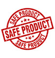 safe product round red grunge stamp vector image vector image