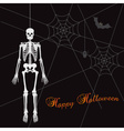 scary happy halloween with white skeleton eps10 vector image vector image