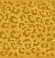 seamless leopard pattern design animal yellow vector image vector image