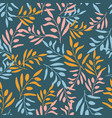 seamless olive branch pattern vector image vector image