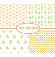Set of tick seamless ethnic pattern It can be used vector image