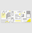 set universal trend posters linear geometri vector image vector image