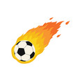 soccer football comet fire tail flying vector image vector image