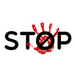 stop bulling sign vector image vector image