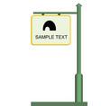 street notice board vector image