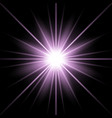 sunlight with lens flare effect purple color vector image vector image