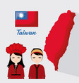 taiwan culture design vector image vector image