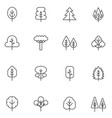 tree thin line icons set collection vector image vector image