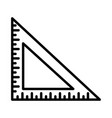 triangle ruler outline icon vector image