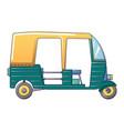 tuk tuk taxi icon cartoon style vector image
