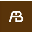 two letters a and b ligature logo vector image