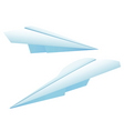 two paper planes vector image vector image