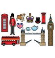 united kingdom icon set vector image vector image