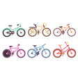 various bicycles collection sportive and city vector image vector image